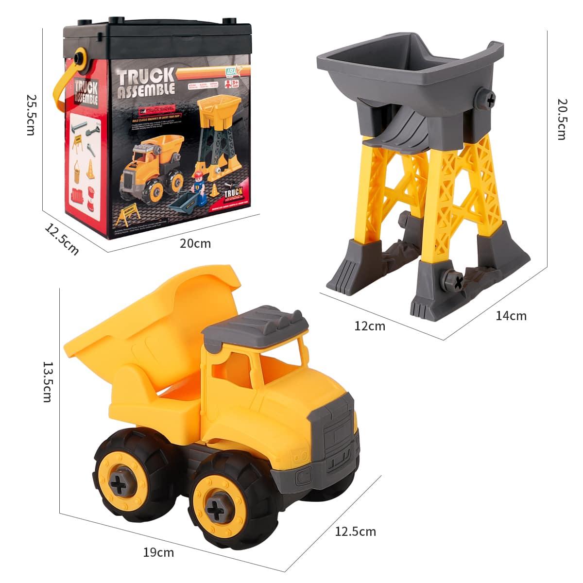 1 коробка детская игрушка-модель грузовика в сборке