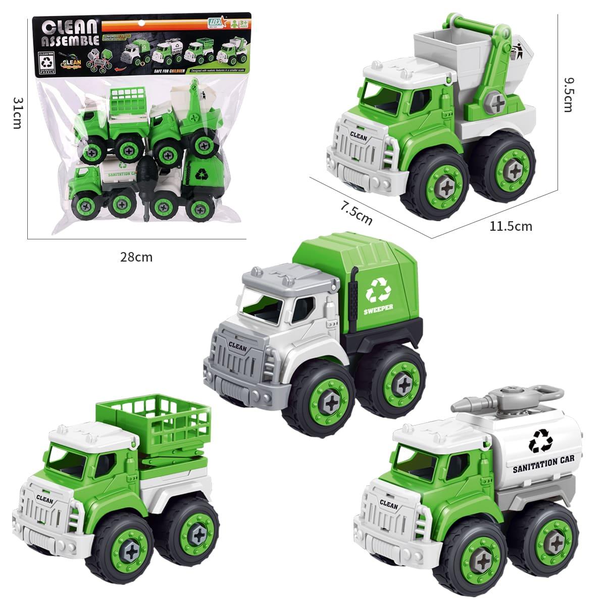 1 коробка детская игрушка-модель санитарного автомобиля в сборке