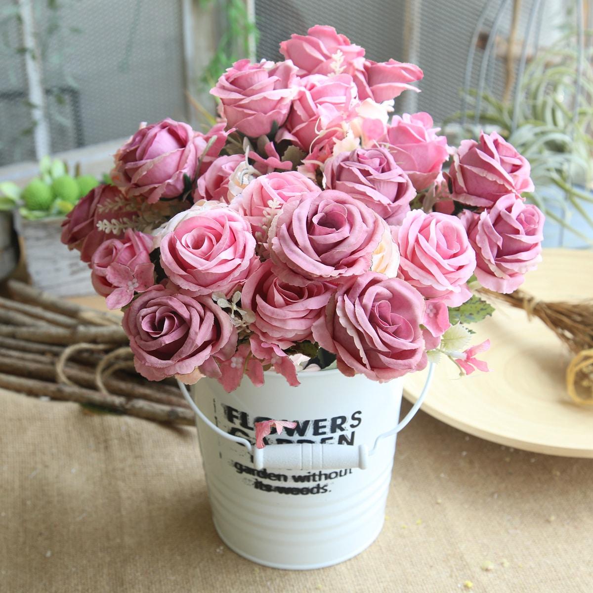 1 Strauß künstliche Blumen mit 6 Stücke Blüten