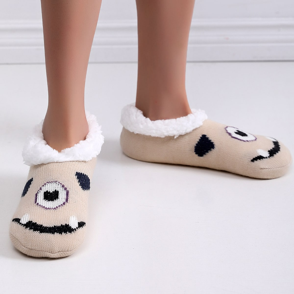 shein Preppy Spotprent Slipper