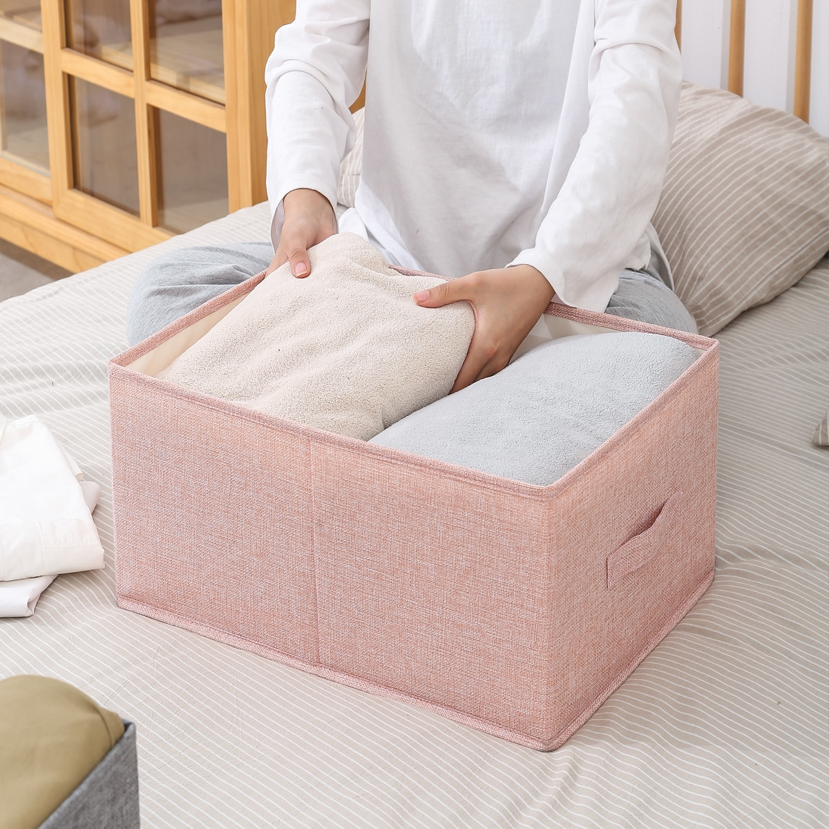 1шт Складной ящик для хранения одежды
