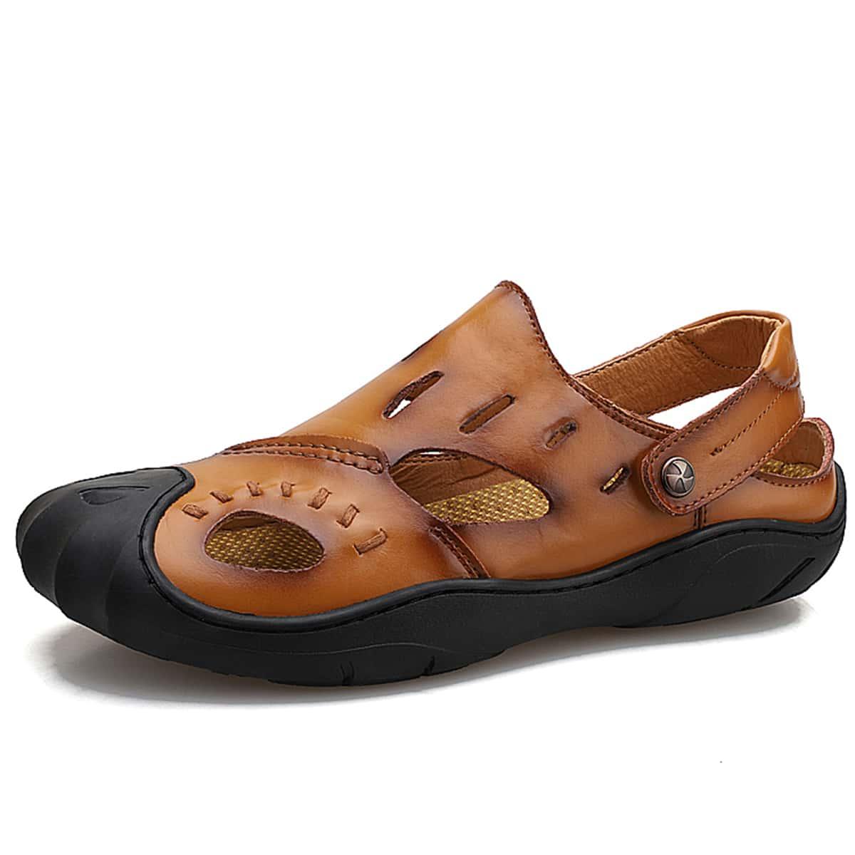 shein Mannen uitgesneden Slingback sandalen
