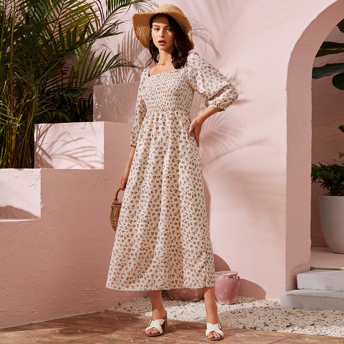 Оборка цветочный Бохо Платье по цене 1 240