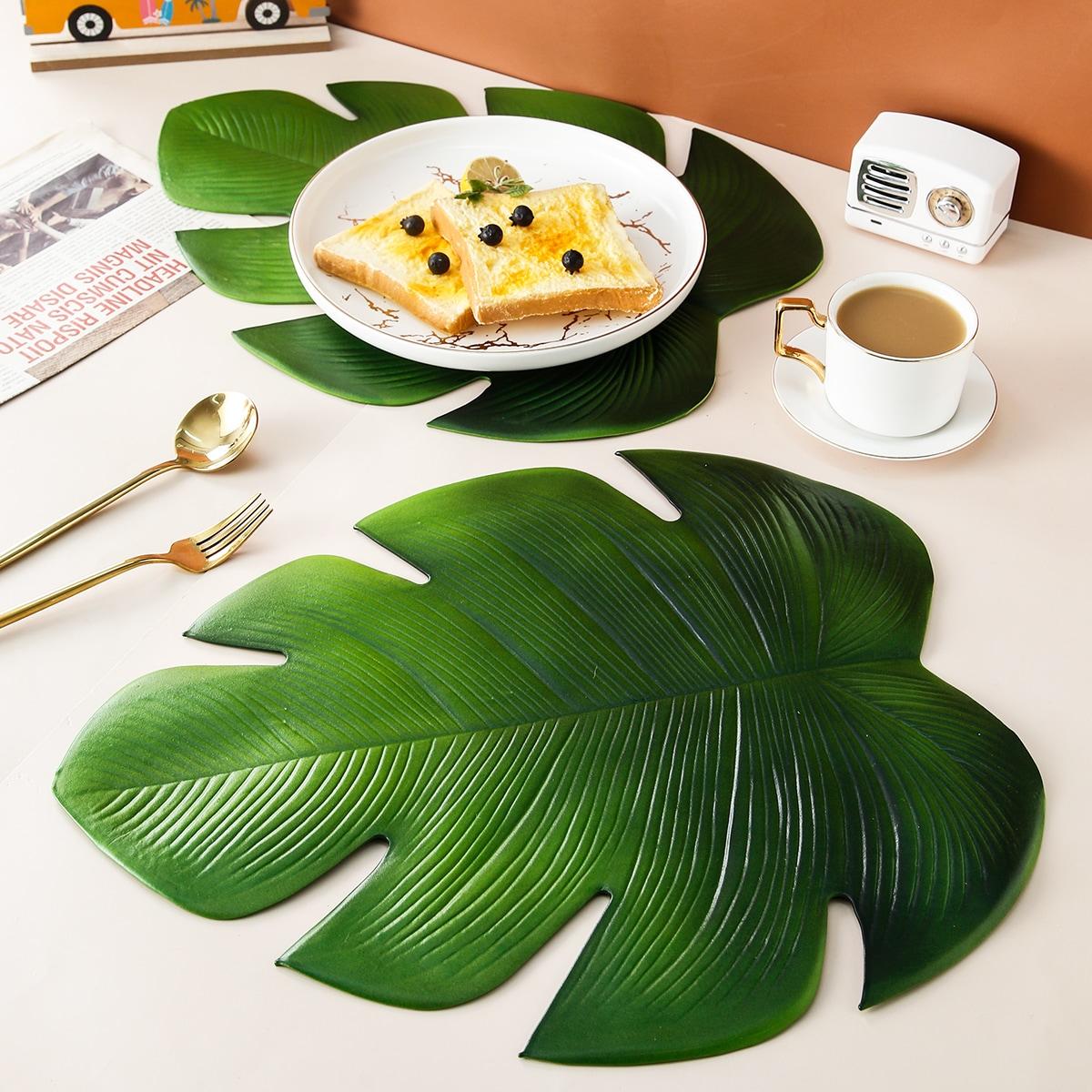 1шт коврик для столовых приборов в форме листа черепахи