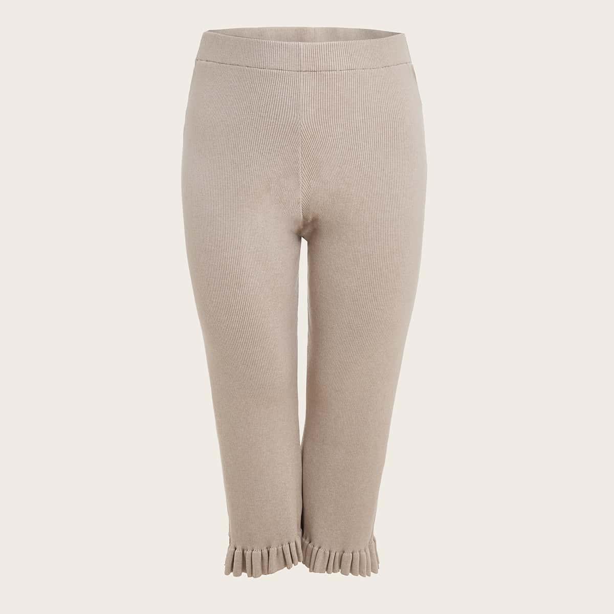 Трикотажные брюки размера плюс