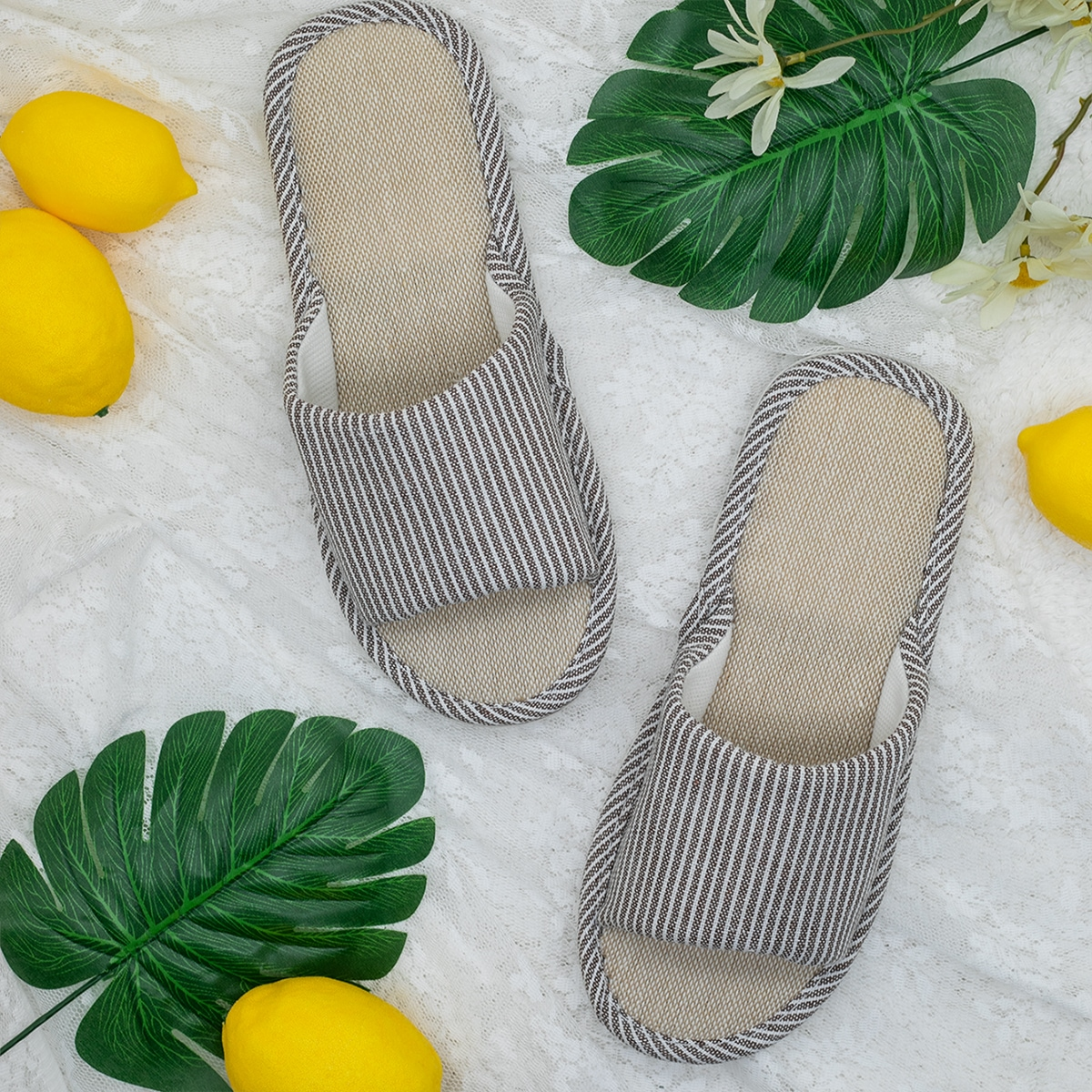 shein Gestreept Heren slippers