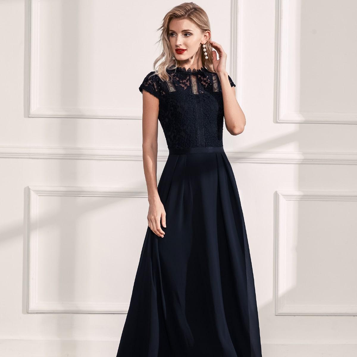 на молнии Одноцветный Очаровательный Платье