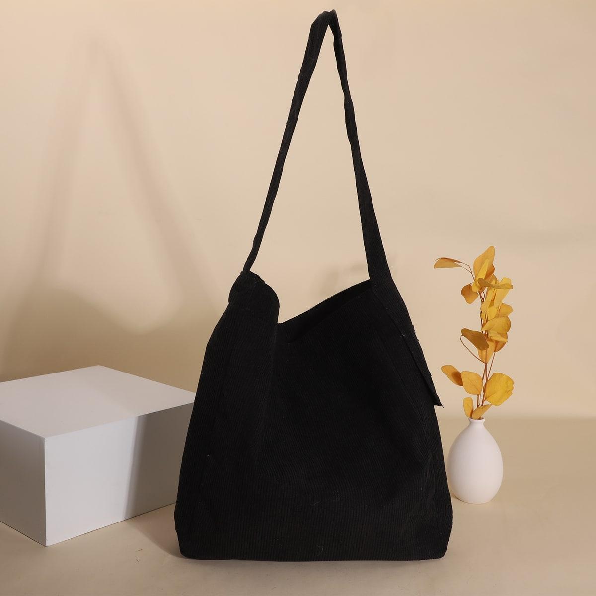 Вельветовая сумка-хобо
