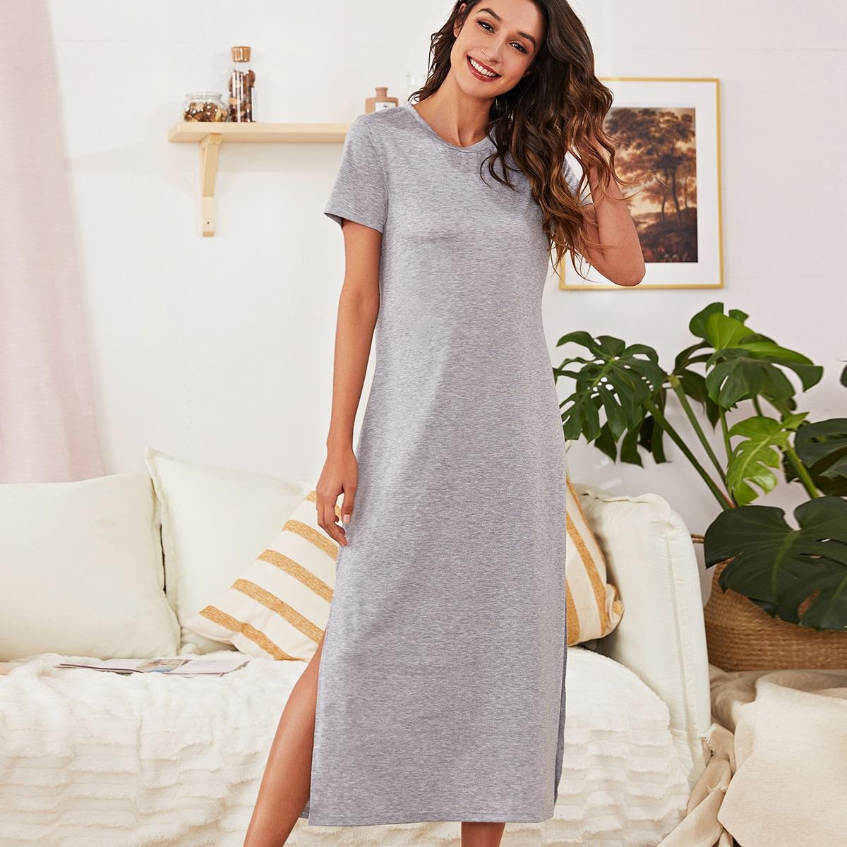 Домашнее платье с разрезом