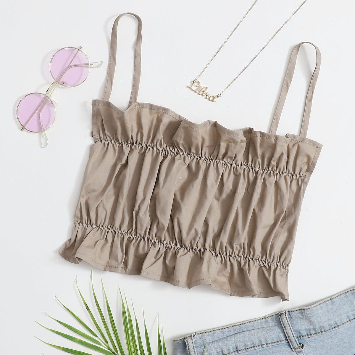 SHEIN Plus size retro kanten sling top