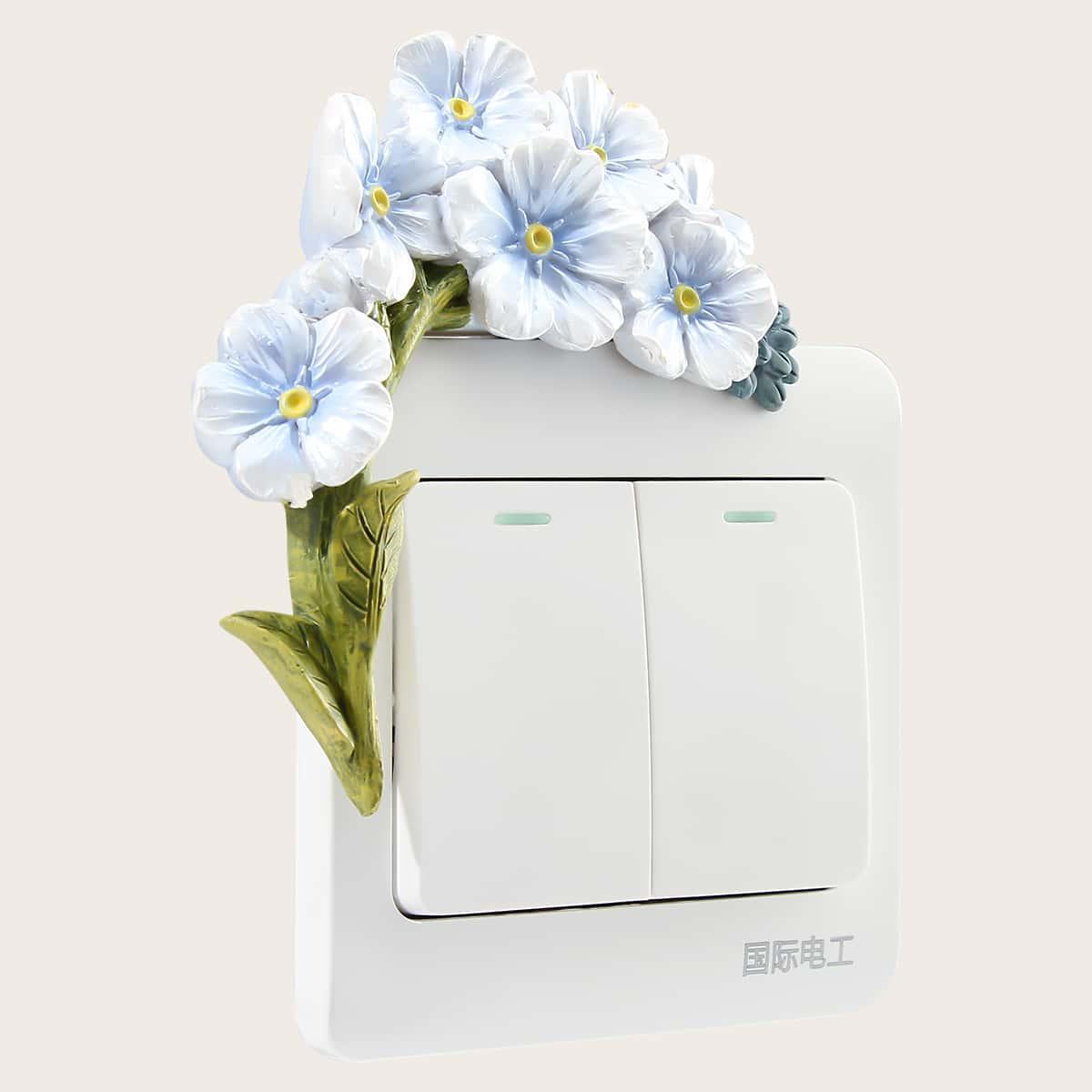Наклейка на переключатель в форме цветка