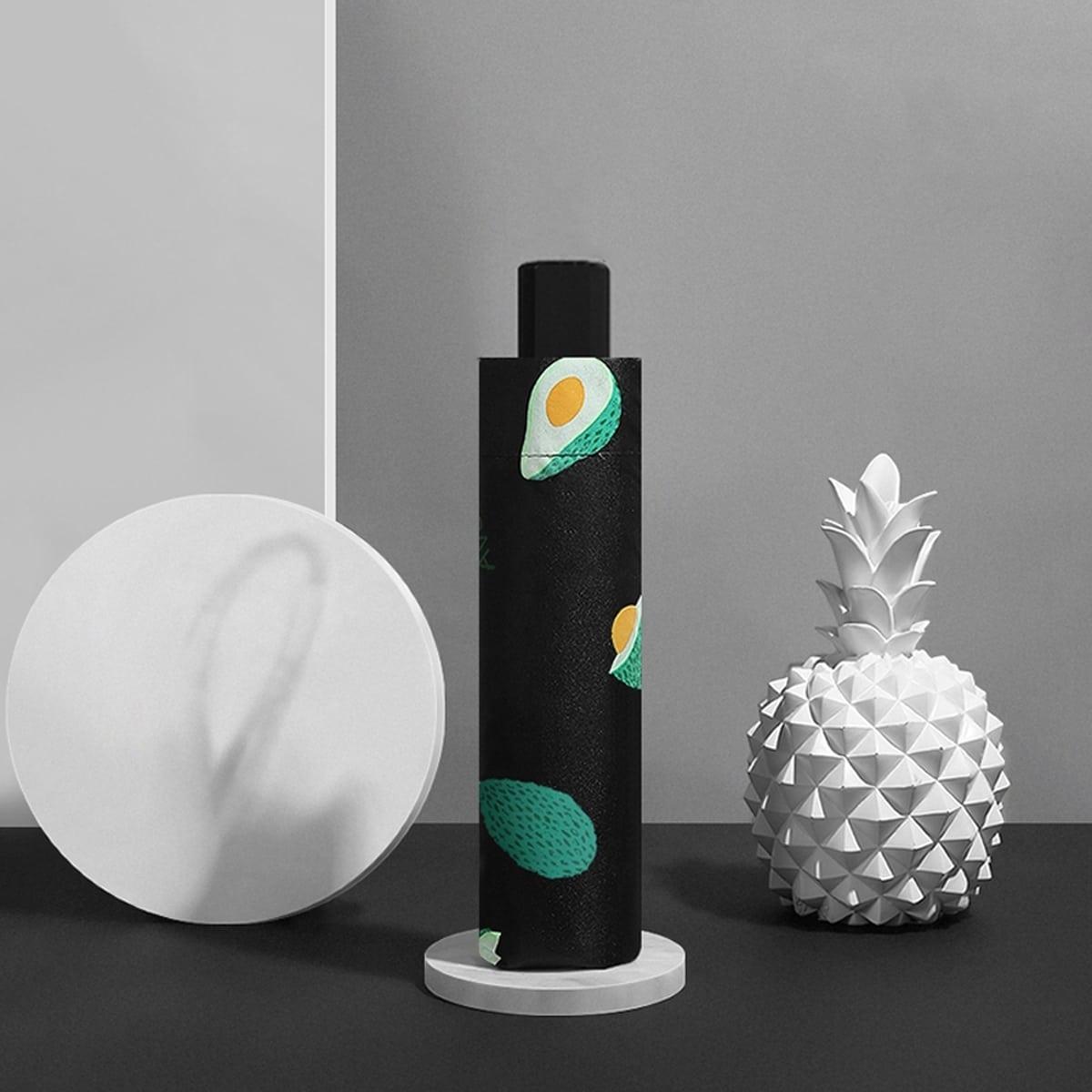 Солнцезащитный зонт с принтом авокадо