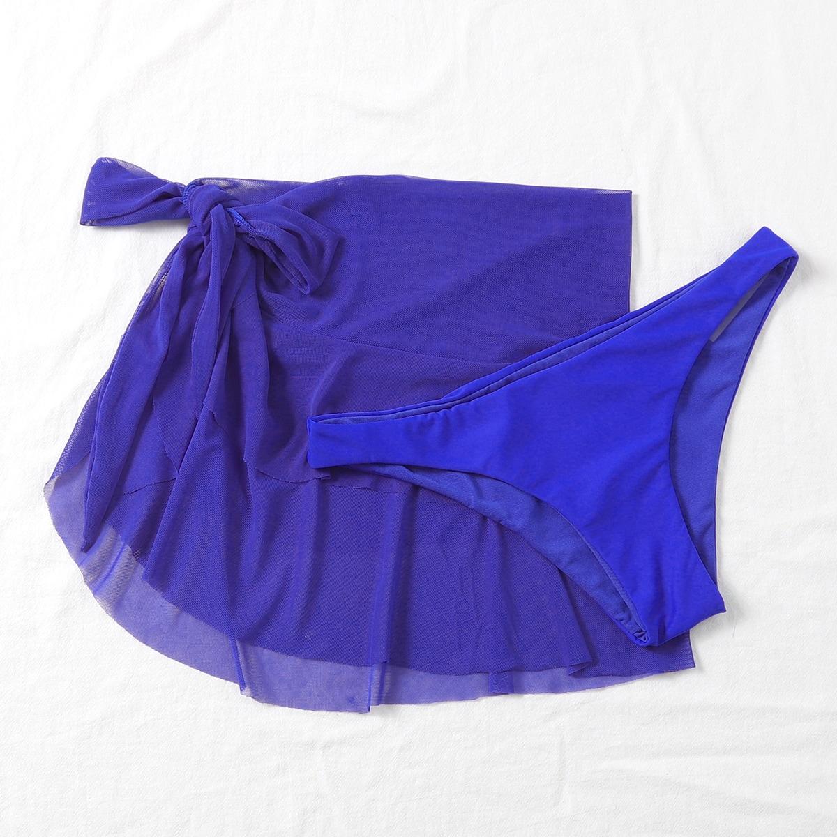 Плавки бикини и сетчатая пляжная юбка 2шт