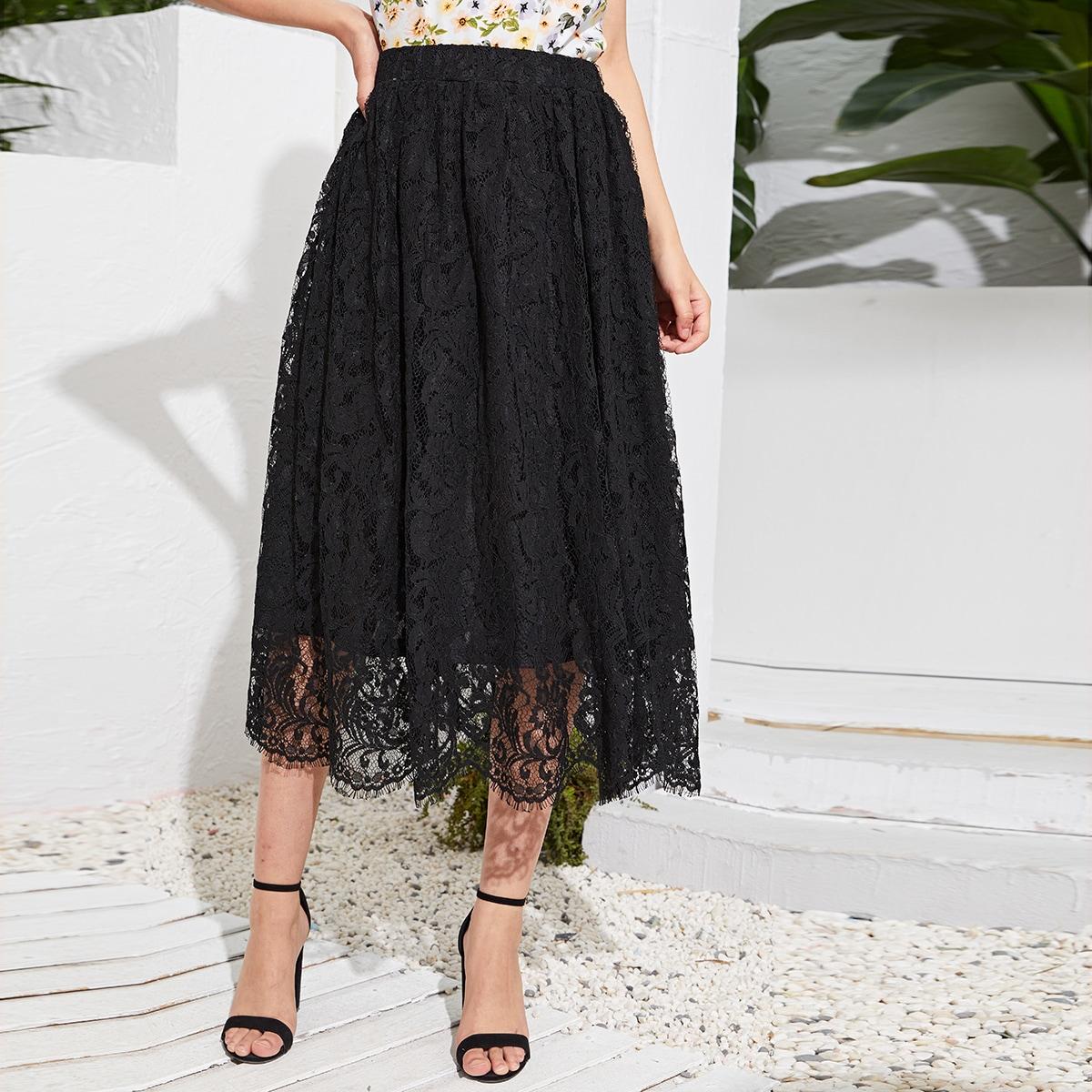 Кружевная юбка с эластичной талией