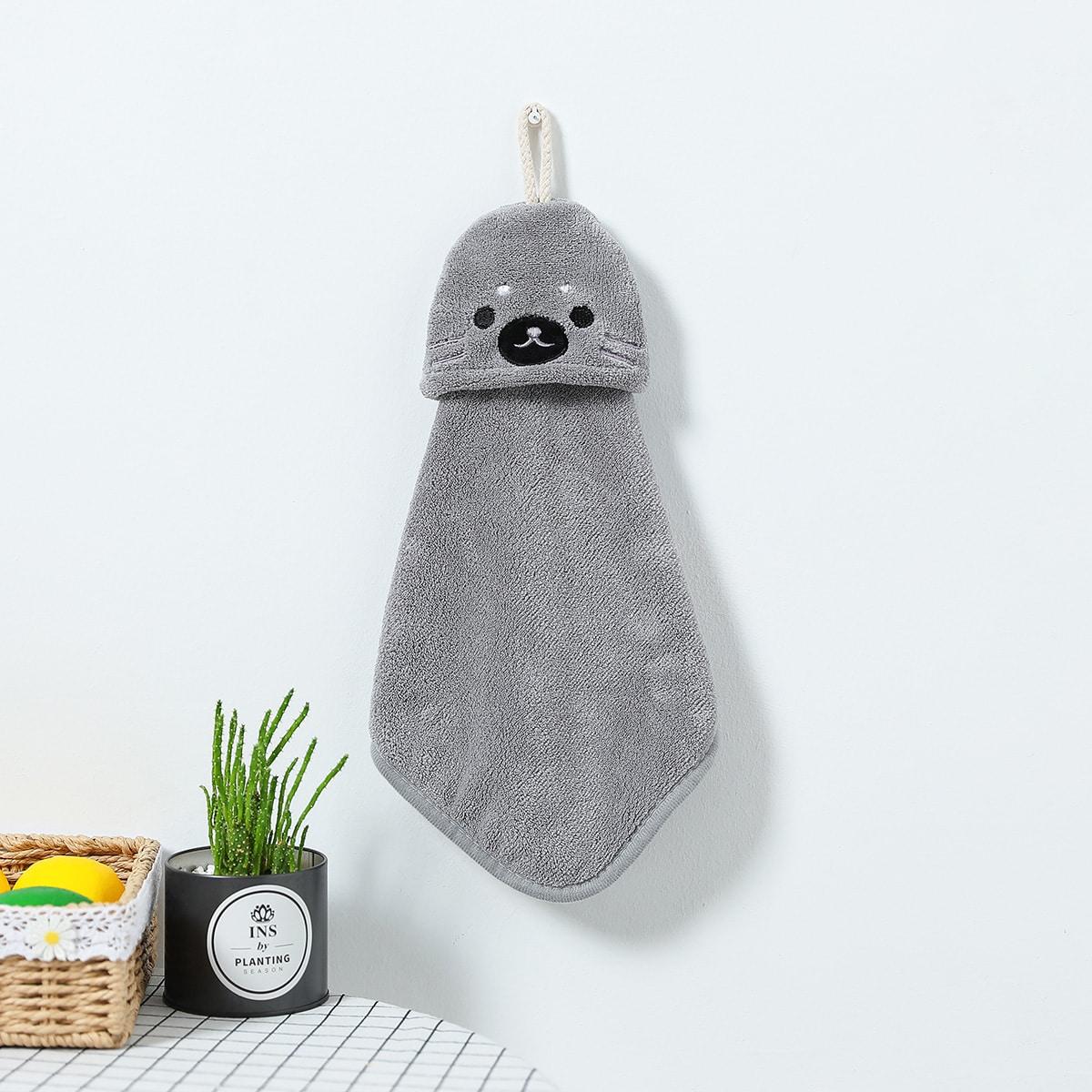 1Pc Cartoon Sea Lion Hand Towel