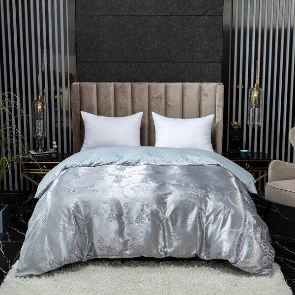 Jacquard Pattern Duvet Cover Without Filler, Grey