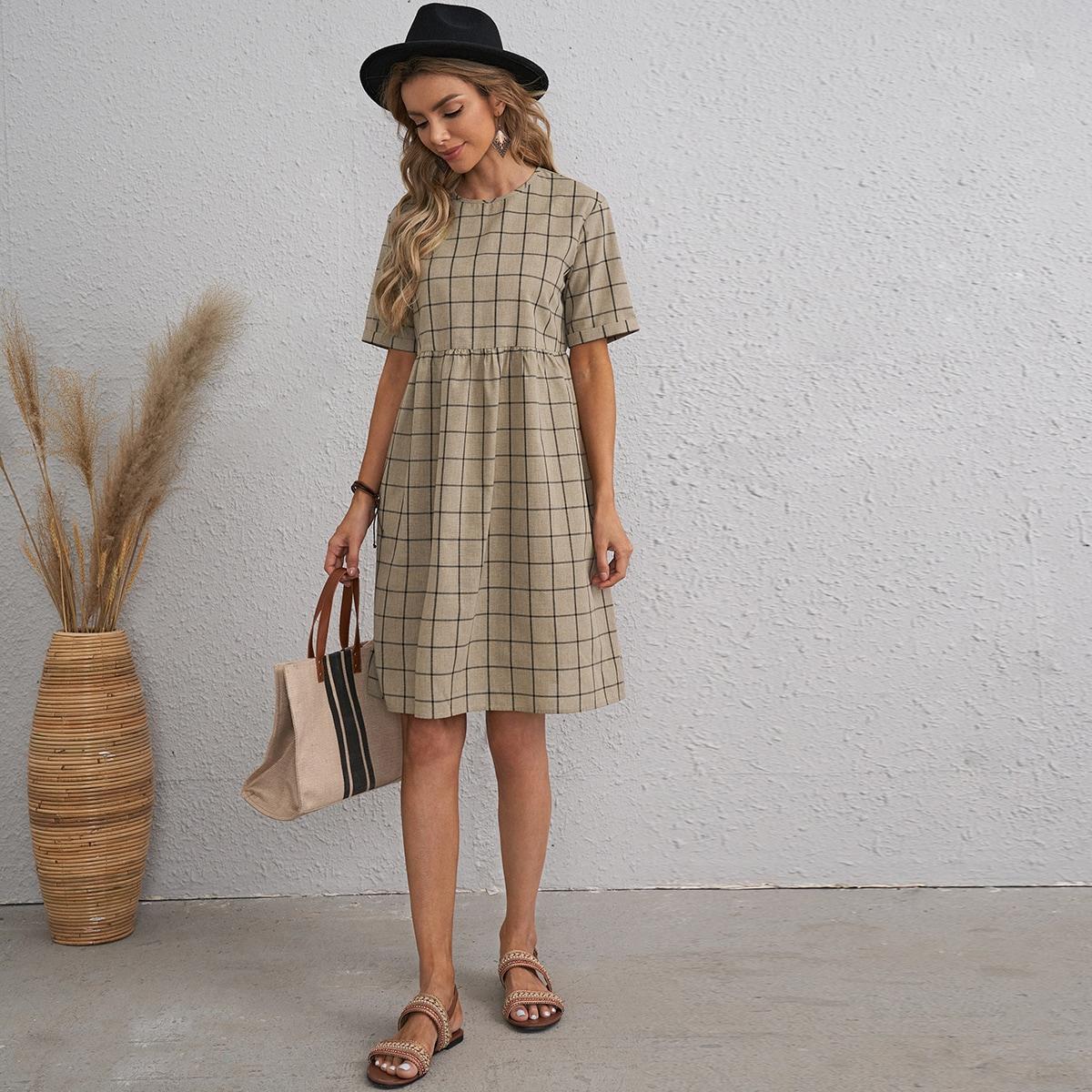 Платье в клетку SheIn swdress07201228178