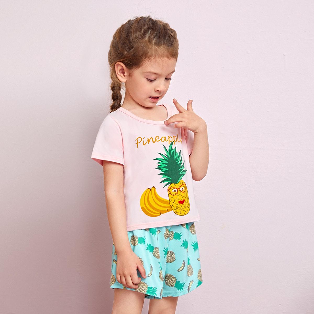Пижама соригинальнымпринтом для девочек