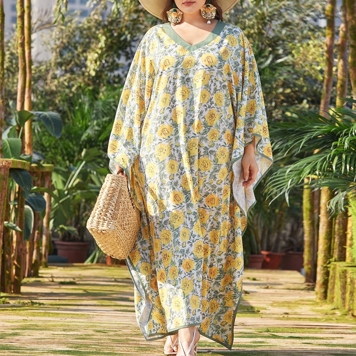 Цветочный Бохо Платья размер плюс