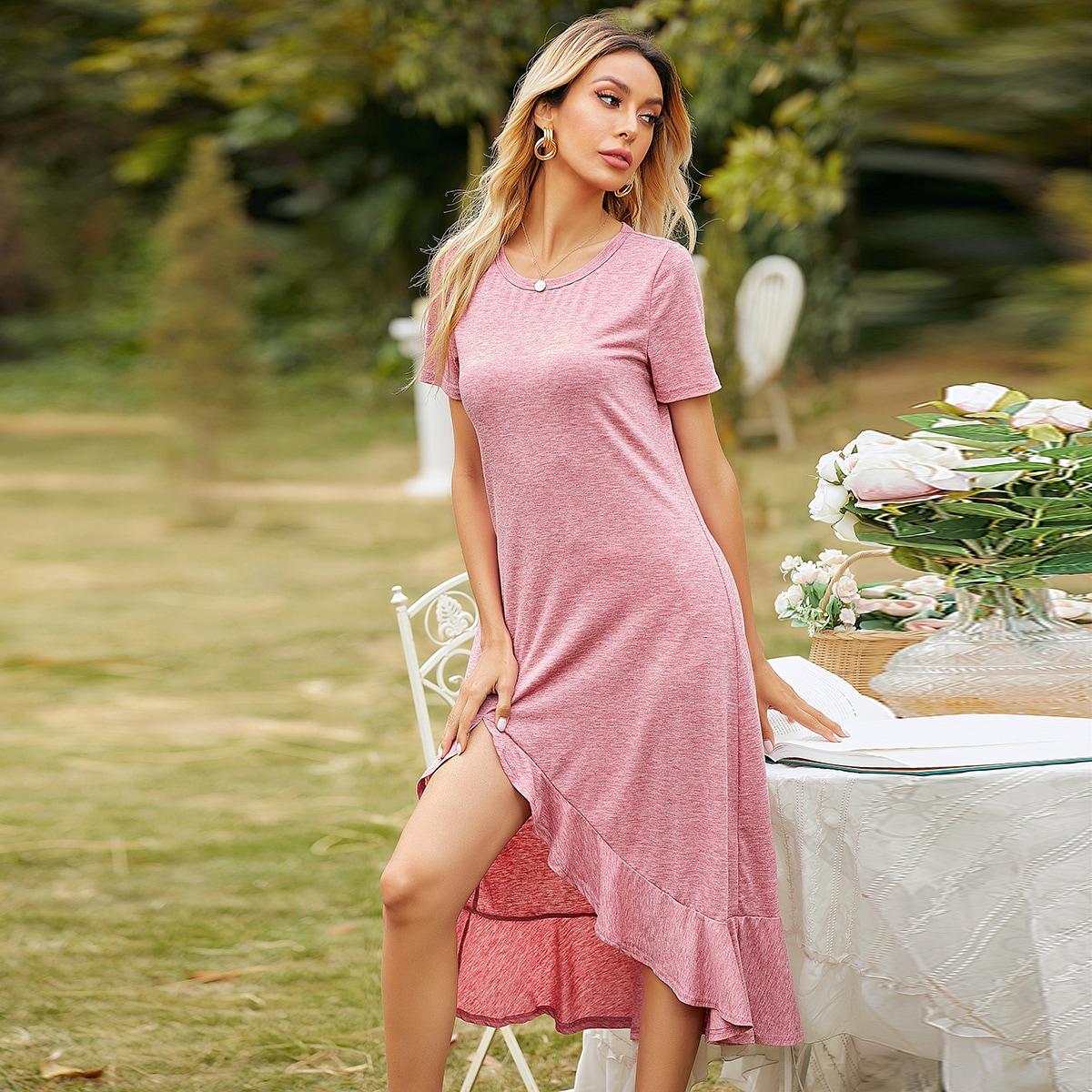 С оборками Повседневный Платье