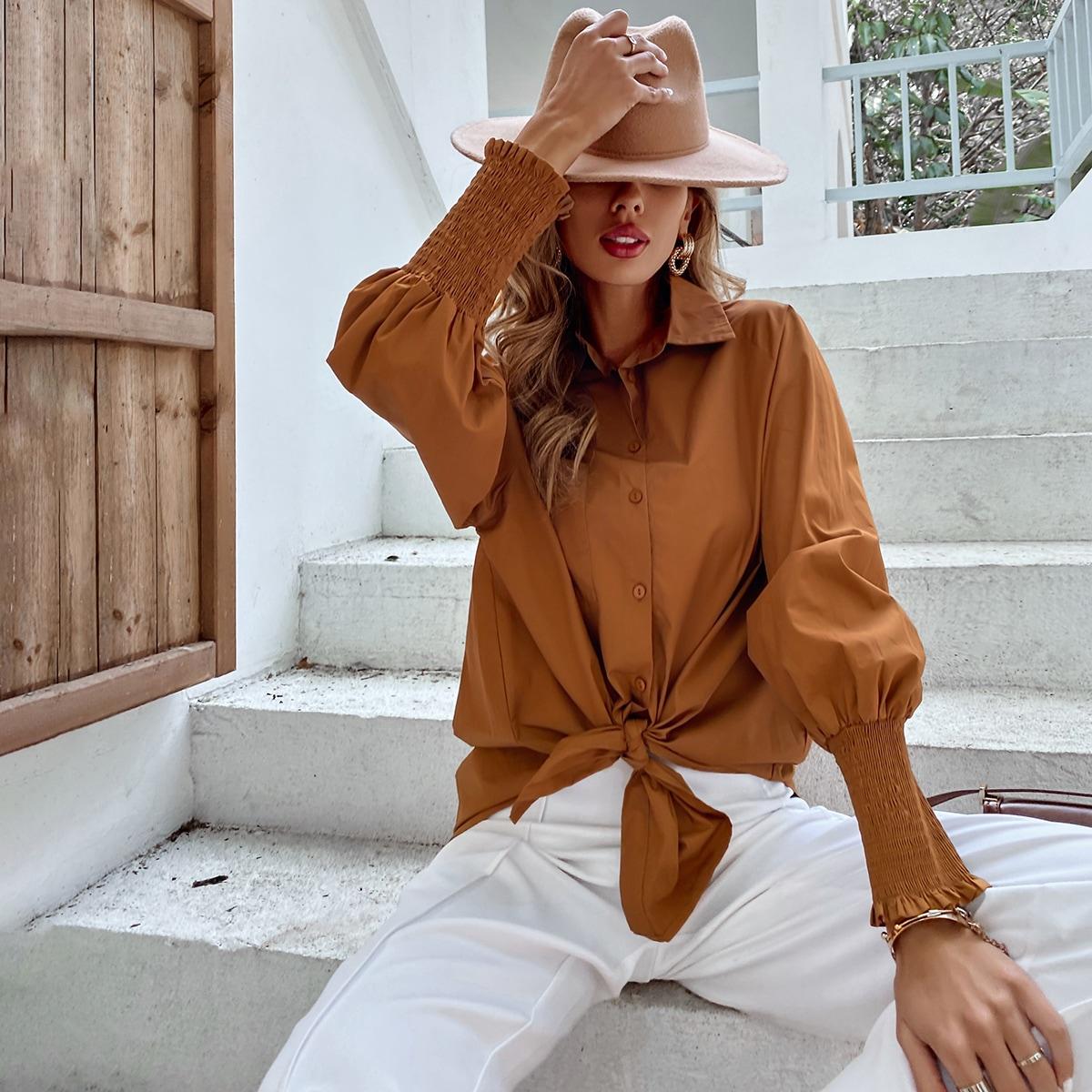 Блузка оверсайз с рукавом реглан
