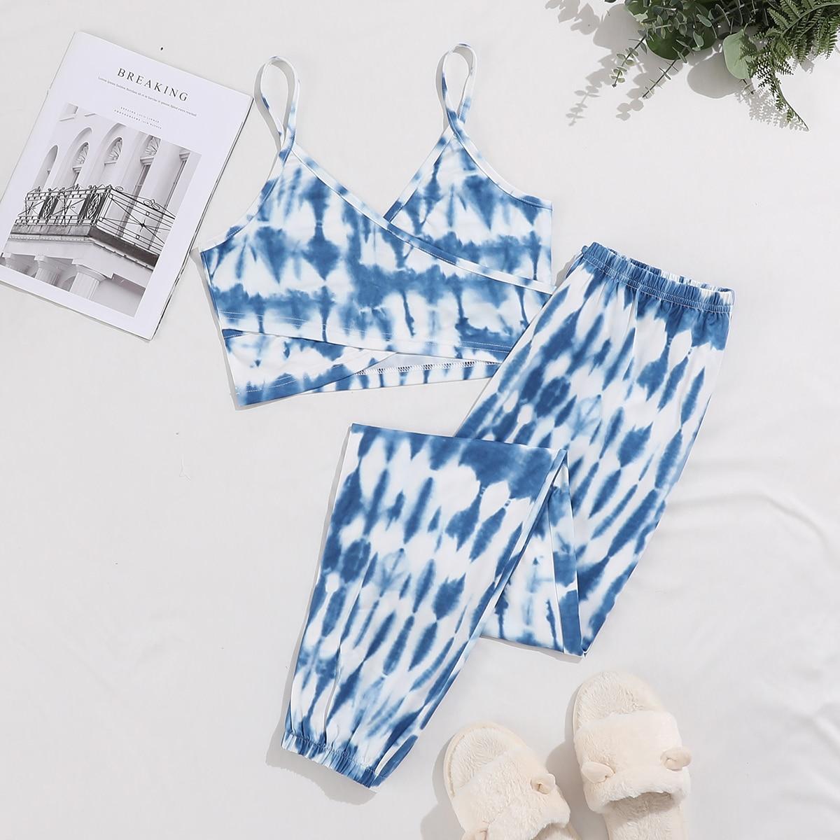 Пижама с принтом тай дай по цене 900
