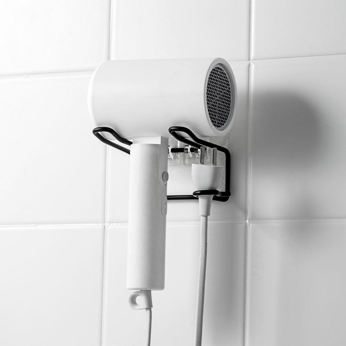 1 pieza soporte de secador de pelo de acero inoxidable