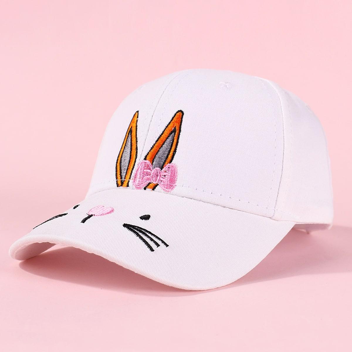 Kinder Baseball Hut mit Karikatur Stickereien