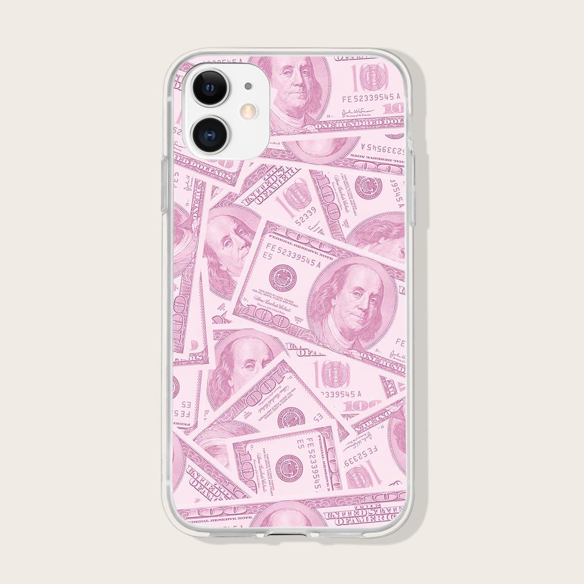 Custodia per iPhone con stampa dollaro