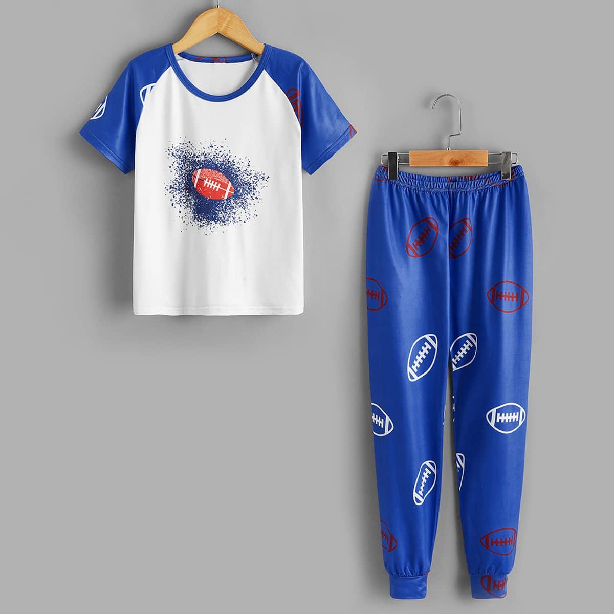 Пижама с принтом регби для мальчиков