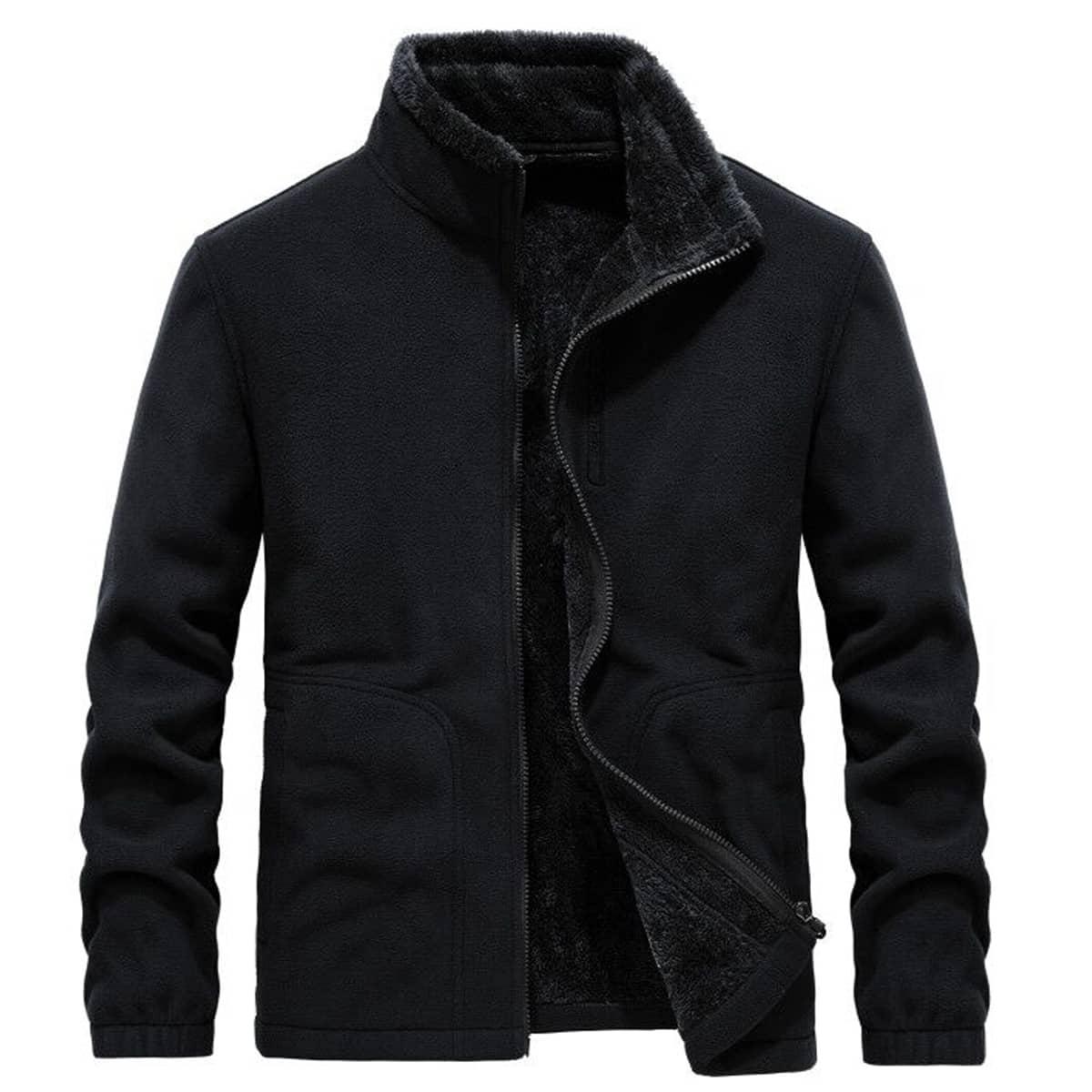Мужская флисовая куртка с фланелевой подкладкой