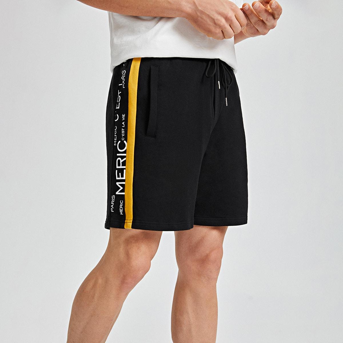 Мужские шорты с текстовым принтом