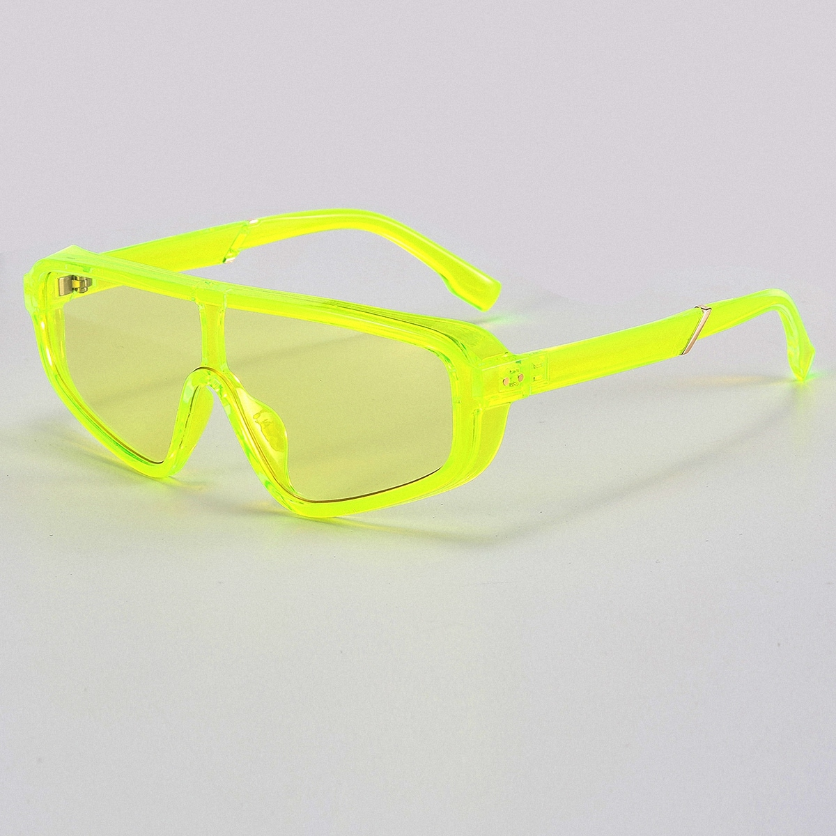 shein Neongele zonnebril voor heren
