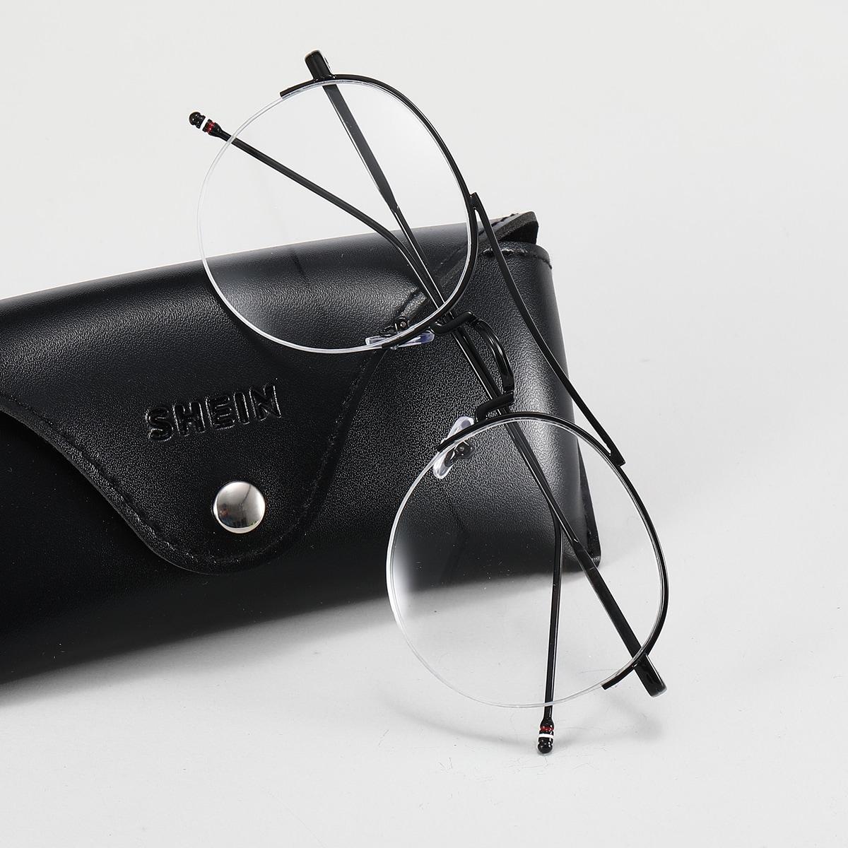 shein Kacamata Bingkai Bulat Pria