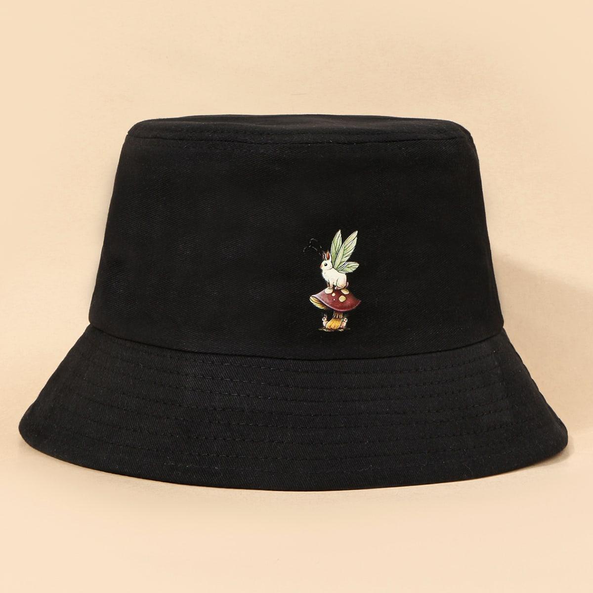 Шляпа с принтом кролика