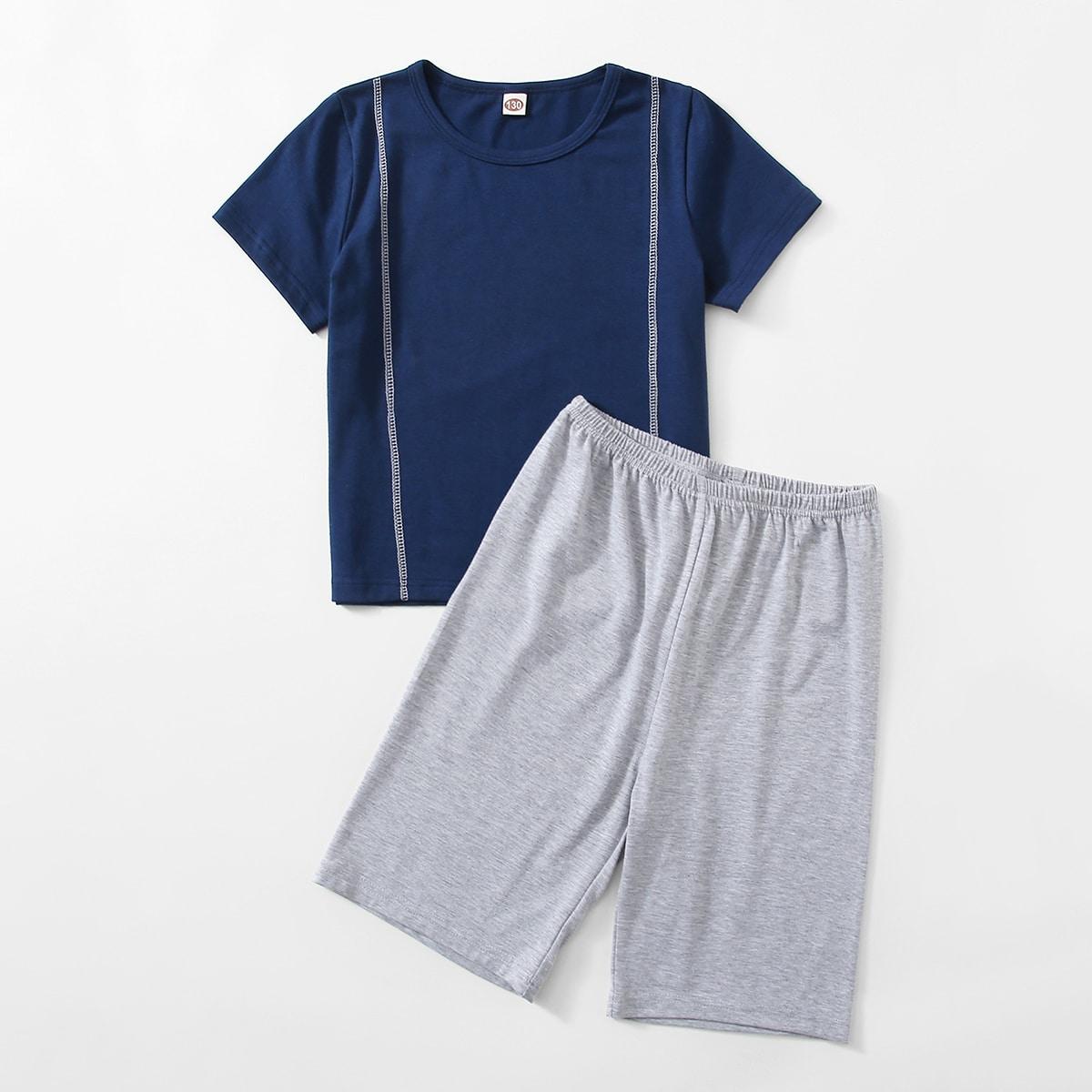 Пижама с круглым воротником для мальчиков