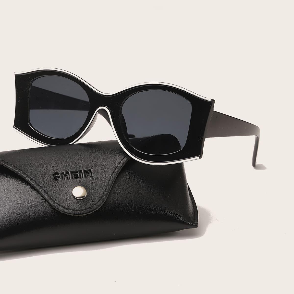 shein Heren zonnebril met onregelmatig montuur