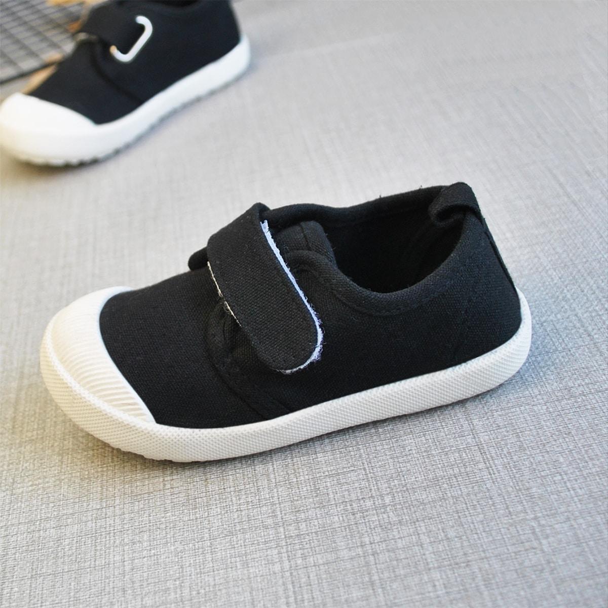Холщовые туфли на липучках для мальчиков от SHEIN