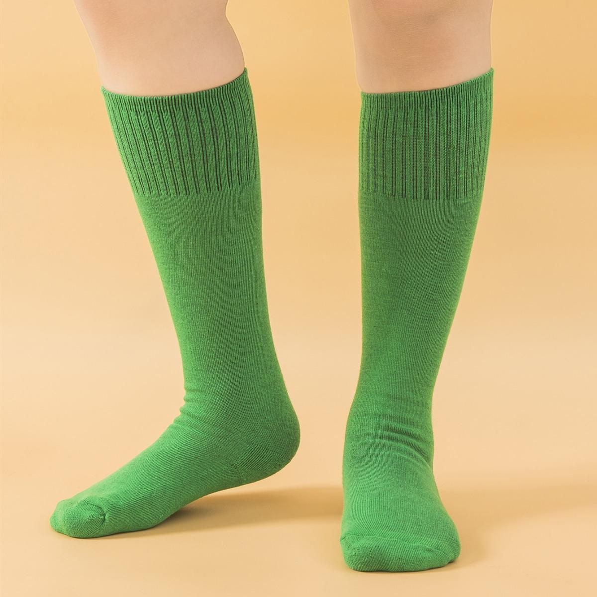 SHEIN / Boys Green Football Socks