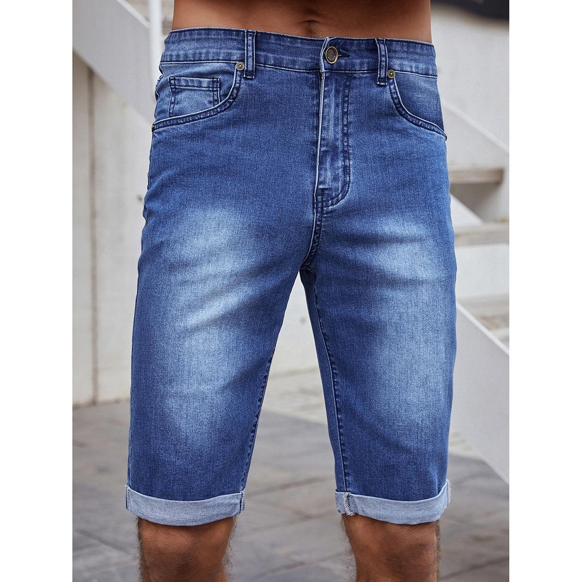 Пугавица Мужские джинсовые шорты