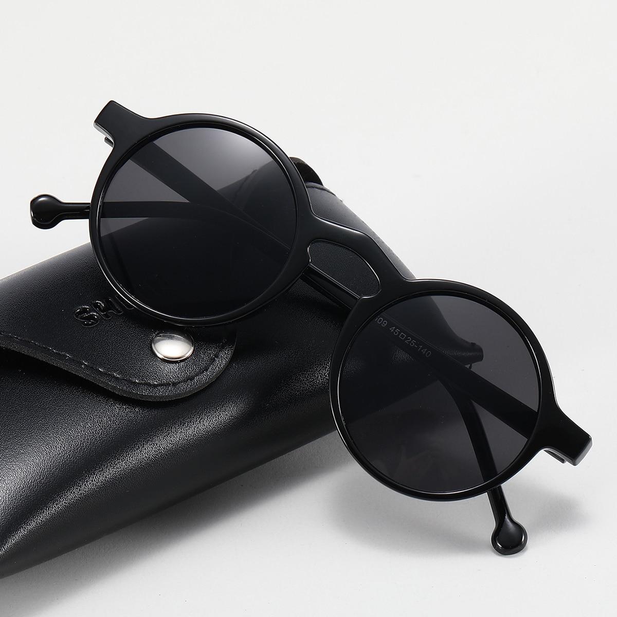 shein Heren zonnebril met rond montuur