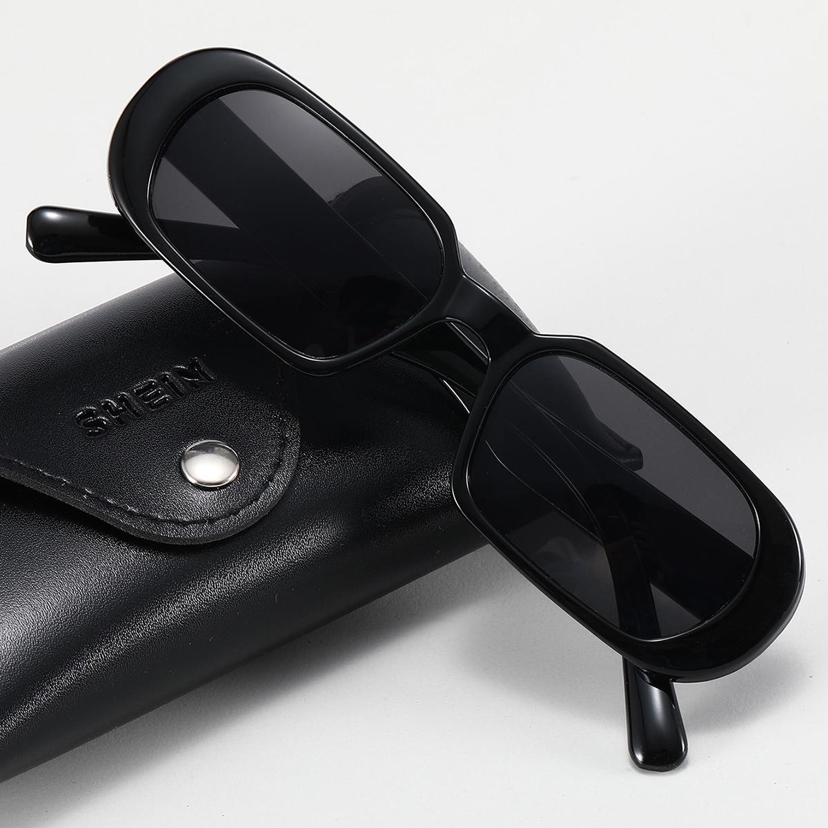 shein Heren zonnebril met getinte glazen met acryl montuur
