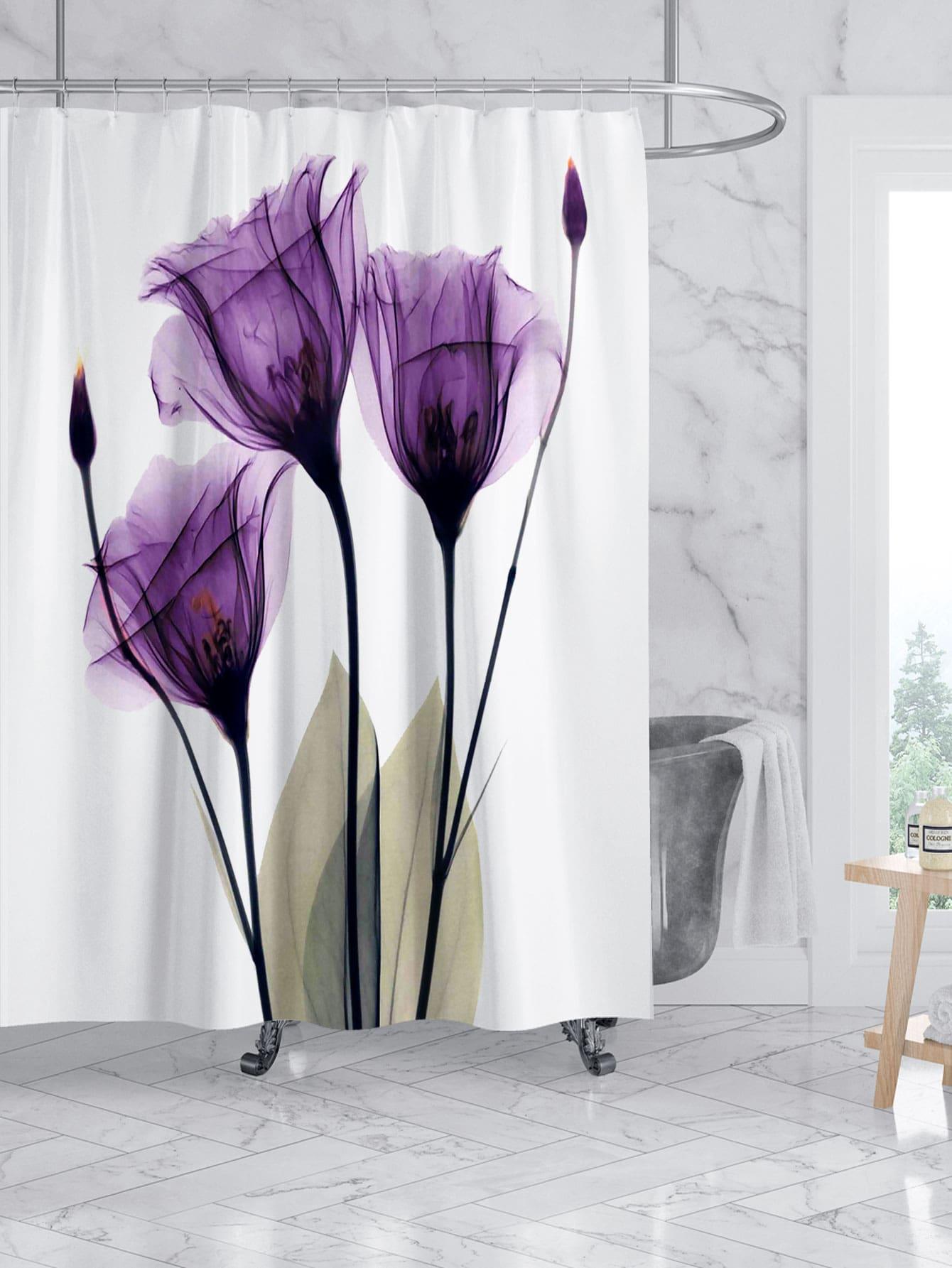 Tulip Print Shower Curtain