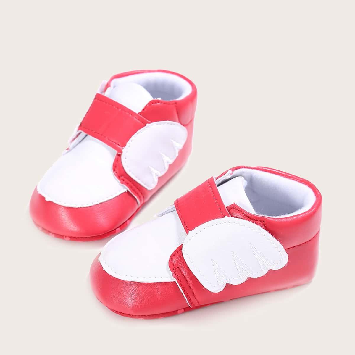 shein Kleurblok Baby platte schoentjes