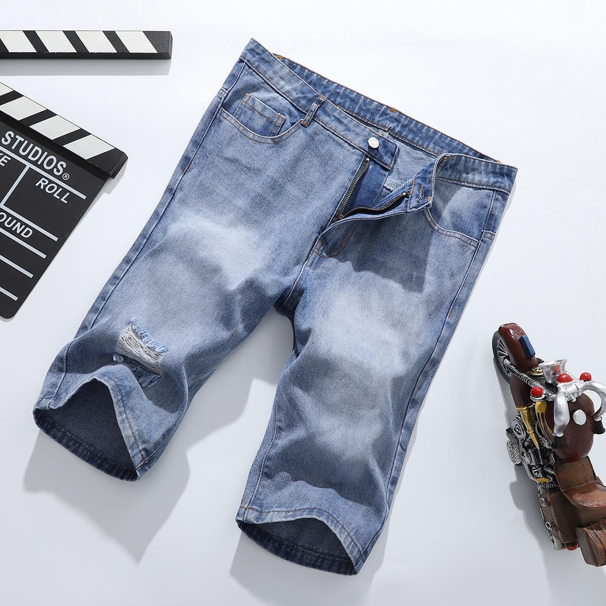 Мужские джинсовые шорты-бермуды от SHEIN