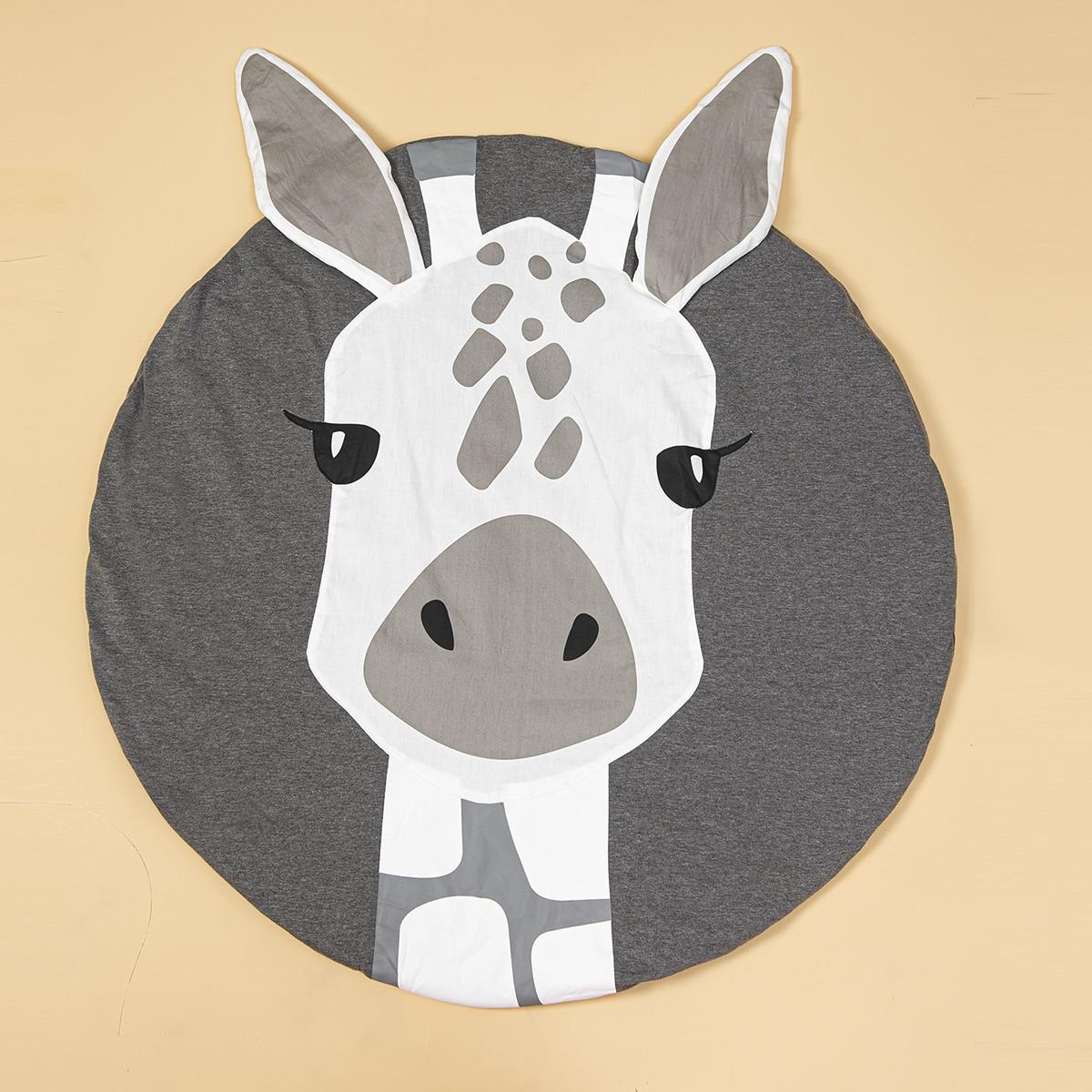 Детский игровой коврик сушками жирафы 3d