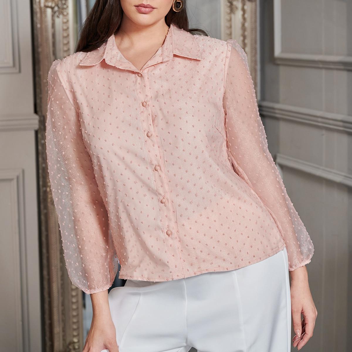 Сетчатая блузка размера плюс