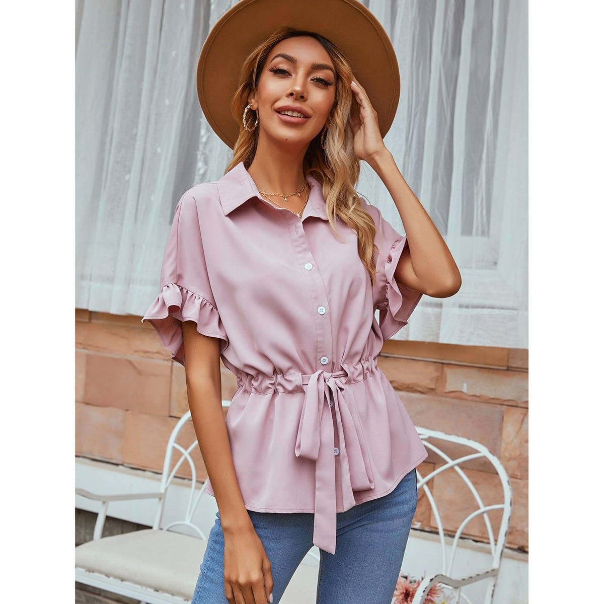 Оригинальная блузка на кулиске