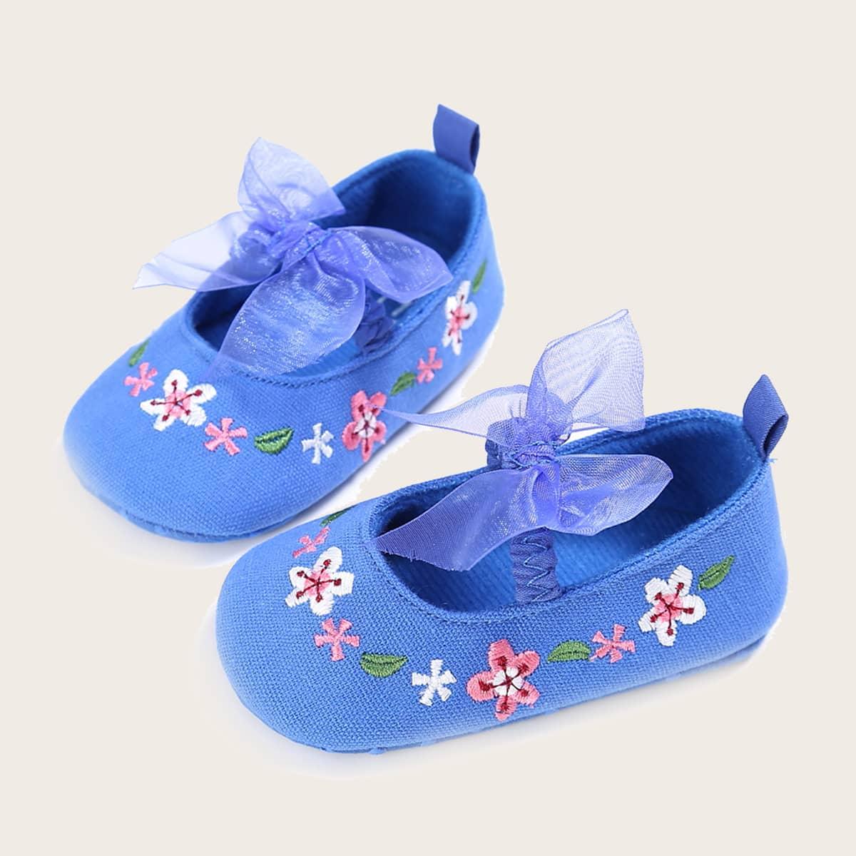 shein Bloemen Baby platte schoentjes Boog