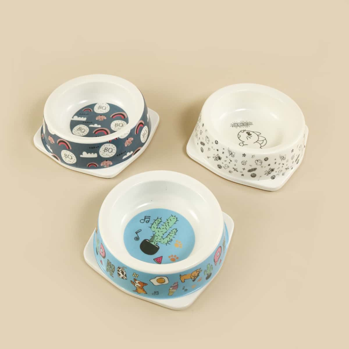 1pc Random Cartoon Pet Bowl, SHEIN  - buy with discount